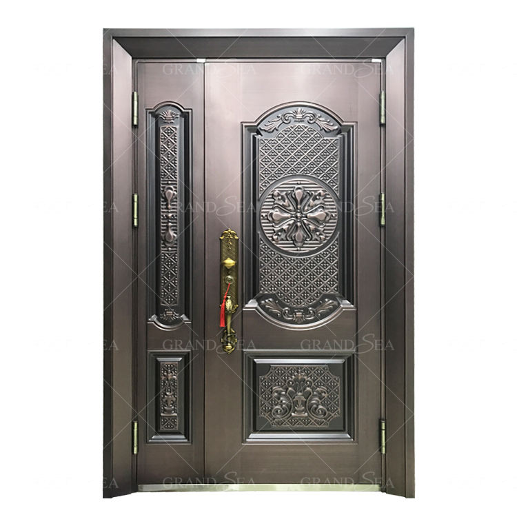 Security apartment main gate design stainless steel door