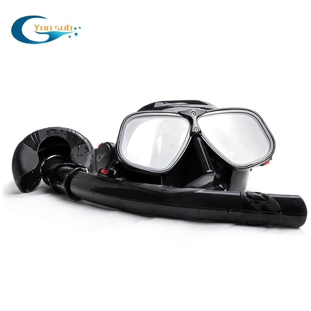 OEM Scuba Diving Mask Set Aluminum Alloys Silicone Mask Snorkeling Sets