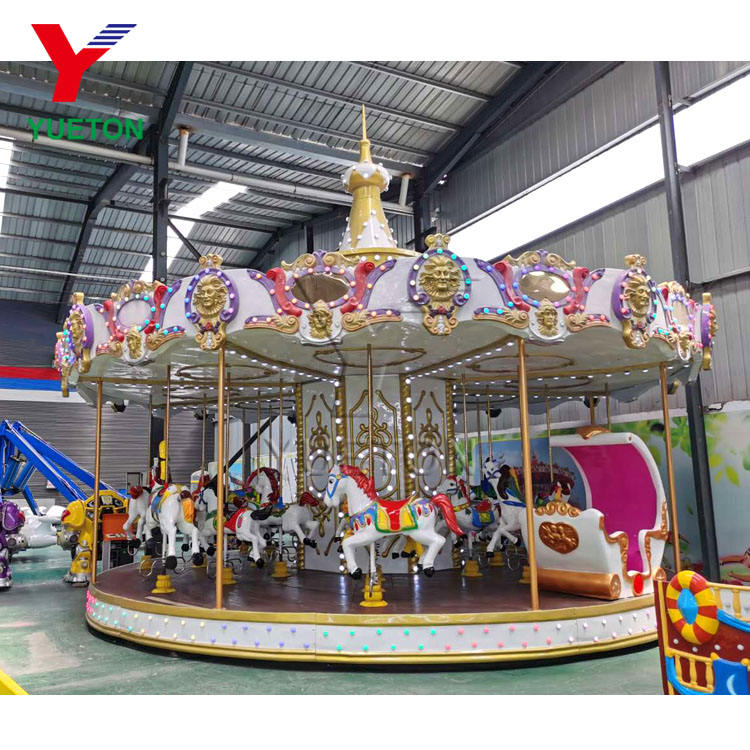 Park Planning And Design 24 Seats Kids Amusement Equipment Assemble Carrousel Fairground Ride Merry Go Round Carousel For Sale