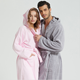 Turkish cotton micro plush custom bath robe all size available hooded men bathrobe for star hotel or warm home