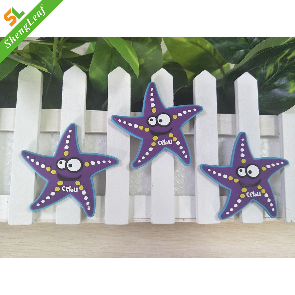 newa arrival free sample 13 years factory wholesale 3D star Soft PVC rubber three-dimensional fridge magnets