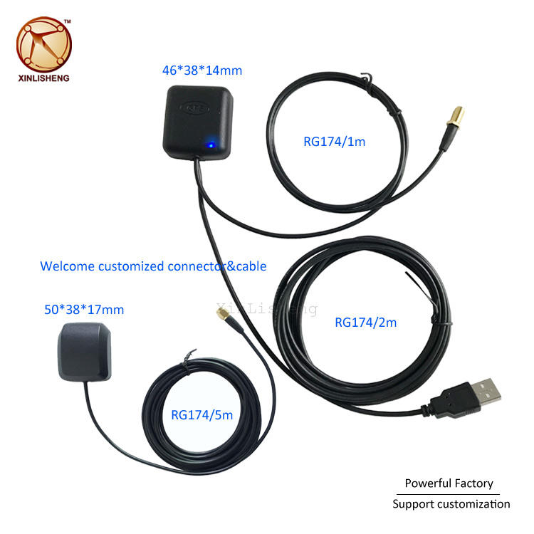 super quality Active Gnss tracker Micro antenna. external car antenna with SMA male or Headset connector customized connector