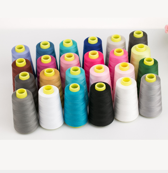 China Manufacturer High Tenacity Colorful sewing thread 100% polyester sewing machine thread hilos de coser