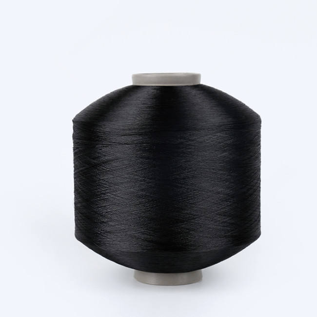 Chine fabricant Semi-terne fdy polyester noir 75 deniers fil 75d 100d 150d 300d <span class=keywords><strong>450d</strong></span> 600d