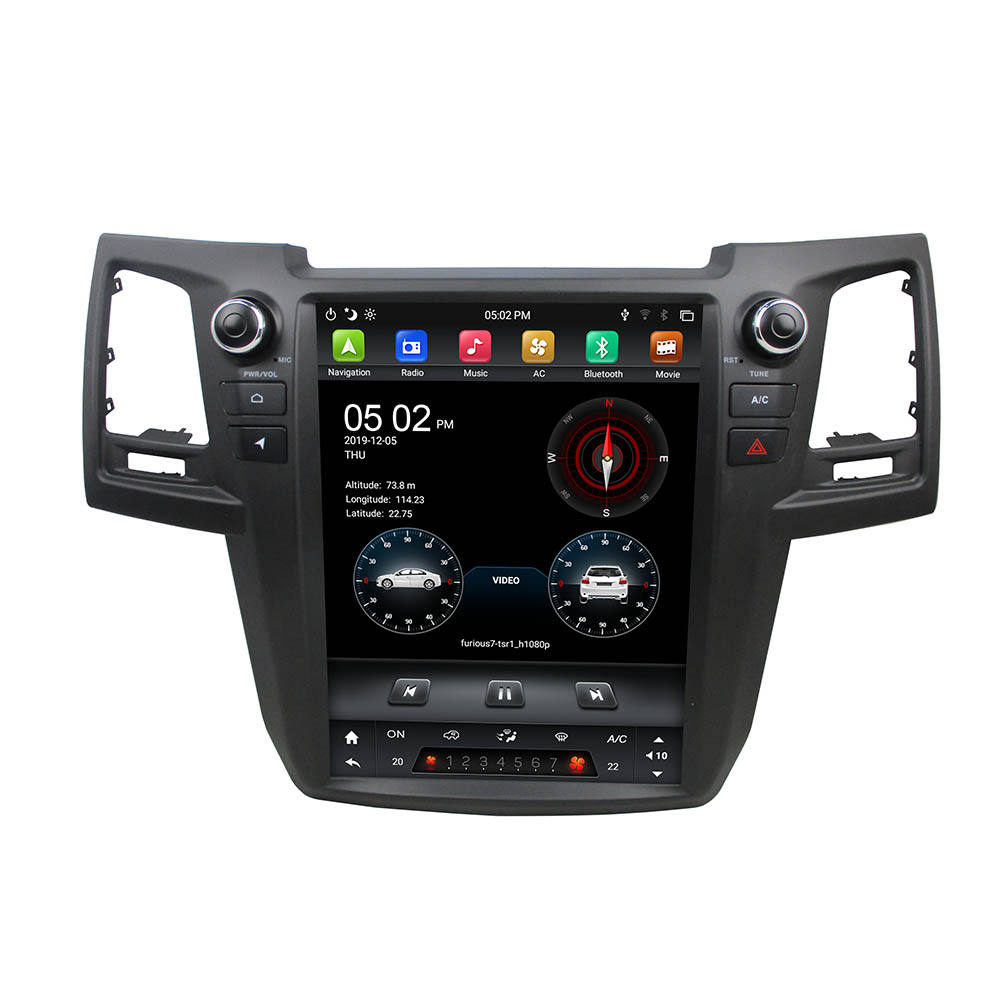 "KLYDE 12.1"" Vertical screen Android 9.0 Car DVD player GPS Navigation For TOYOTA Fortuner 2004-2015 multimedia carplay"