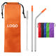 Wholesale 304 Stainless Steel Straw with Silicone Tip Travel Bag