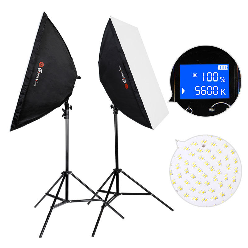 "2-luce <span class=keywords><strong>Video</strong></span> A Led Kit di Illuminazione per Foto e <span class=keywords><strong>Video</strong></span> con 20 ""x 38"" Softbox stand"