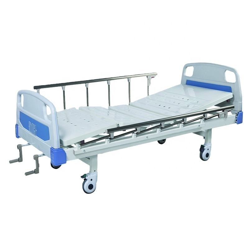 Cheap 2 crank manual medical hospital patient bed 2 position hospital bed price