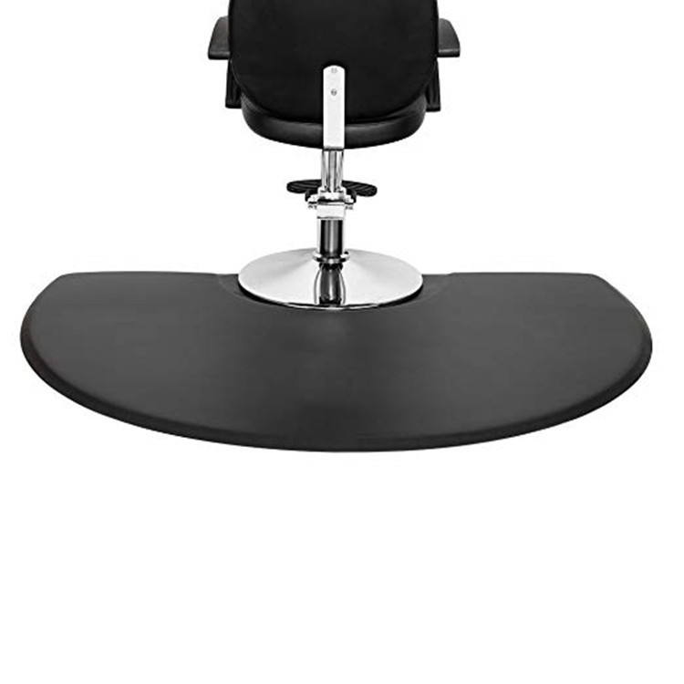 barber and beauty salon high quality and durable rectangle-stylist floor mat barber chair semi-circle mat