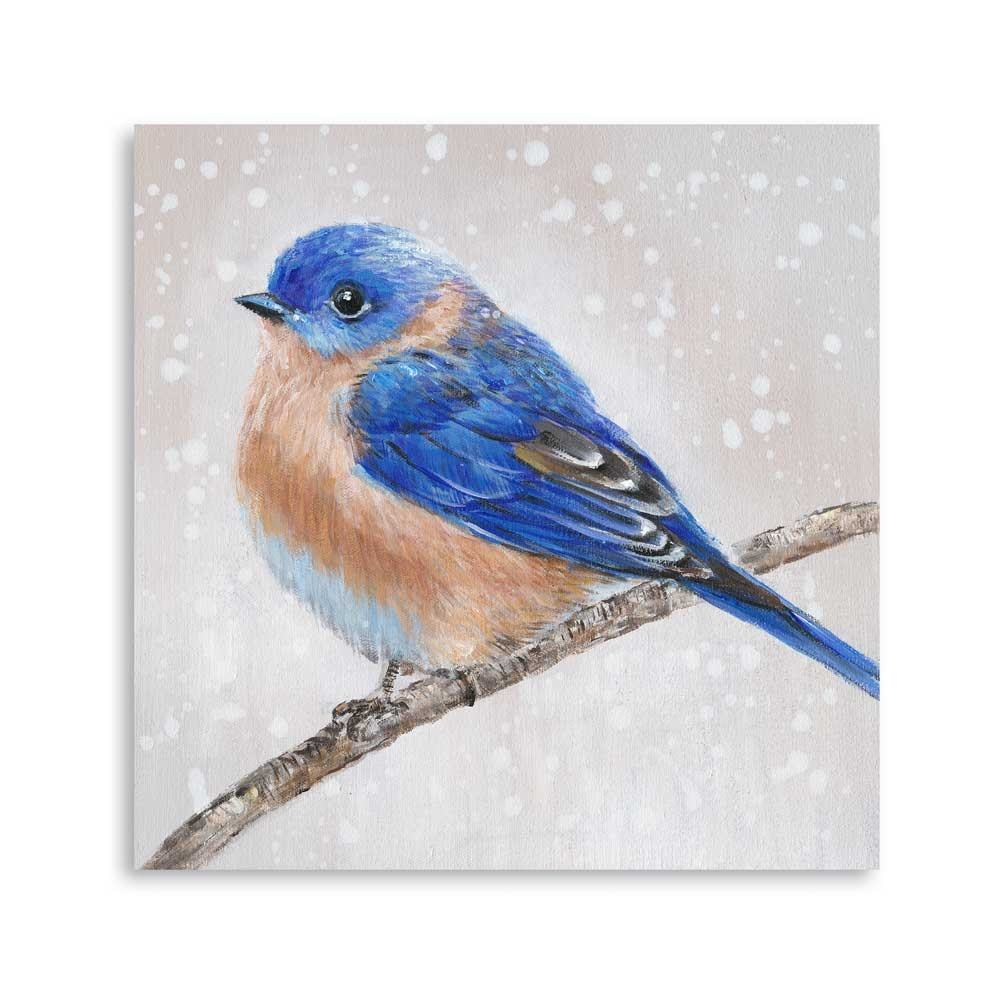 Top selling Natural blue bird oil painting picture