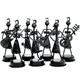 welding metal crafts metal figure instrument music souvenir ,Action Figure Trombone Gril Band Gift Set for Table Decoration