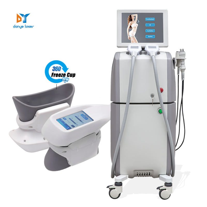 danye own brand 360 fat freezing /freeze cryo rf and cavitation slimming machines