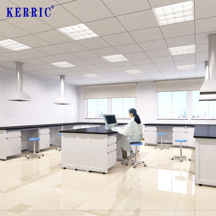 Lab Workbench Suppliers Steel Wood Central Bench Laboratory Furniture