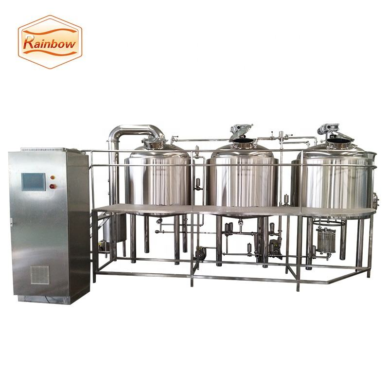 Turnkey 1000liters beer brewing equipment , steam heating microbreweries