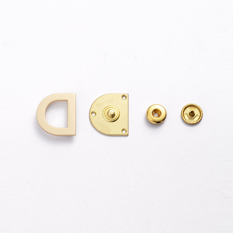 Sanko Factory Golden Metal Covers Brass Sanp Button for Shirt Leaf Lady Shiny Snap for Cloths