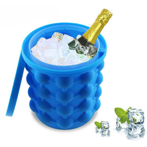 Amazon Mini Kualitas Tinggi Biru Silikon Bar Bear Ice Cube Maker Ember
