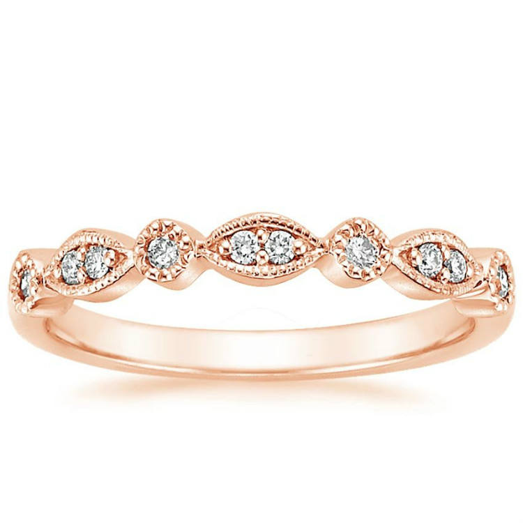 Silver Ring Rose Gold Plated 925 Silver Ring Tiara Cubic Zirconia Rings