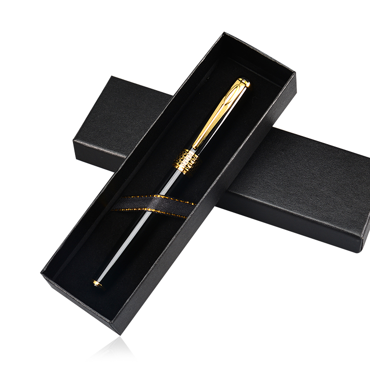 Factory Directly Sale High Quality Gift Promotional Business Popular Pen with Paper Box Metal Roller Pen Anniversary Gift