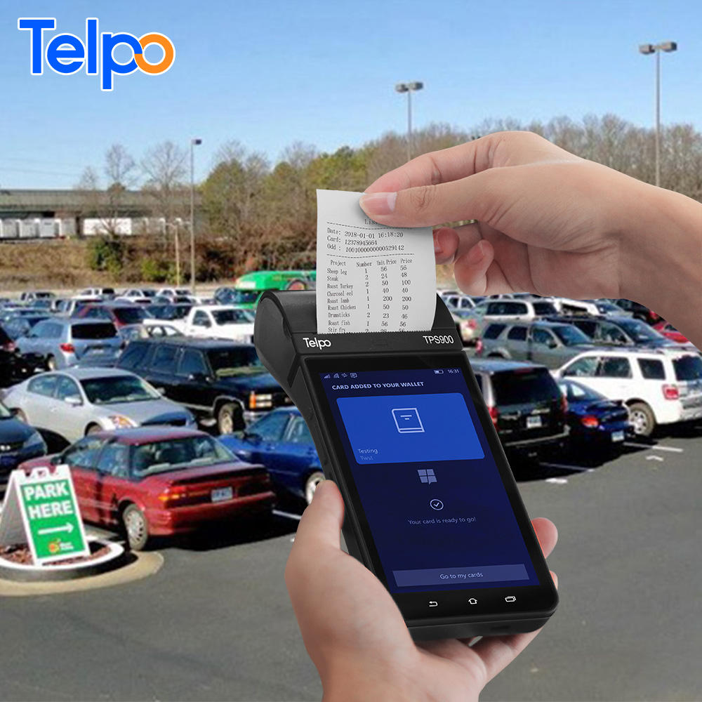 New Wireless All in One Mobile Android Parking Handheld Ticket Payment System Machine With Fingerprint Thermal Bill Printer