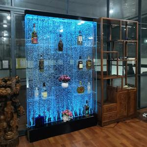 bar and lounge furniture led water bubble panel bubble wine cabinet display