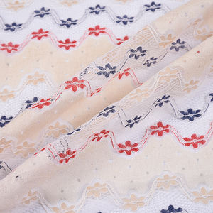 Latest high quality yarn dyed colorful African Swiss cotton voile lace fabric