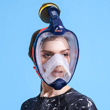 2020 New Design diving snorkel Dust Pollution mask Fresh breath Replaceable filter element full face snorkel mask
