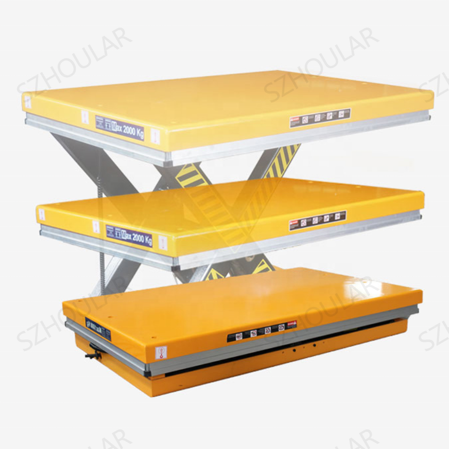 1ton Hydraulic Lift platform 2ton Scissor Lift Table Electric Stationary Lift table HW1001 SZHOULAR