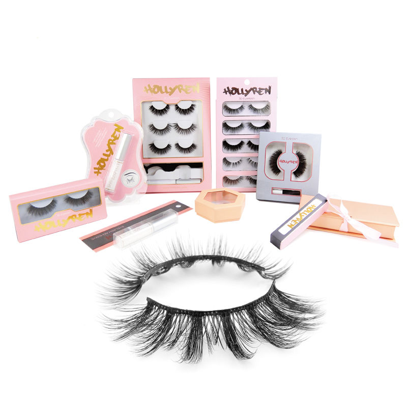 Natural 3D layered look 3d mink eyelash vendor