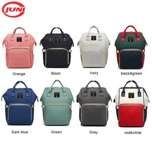 Juni Wholesale Multi-function Waterproof baby diaper backpack diaper bag backpack for moms