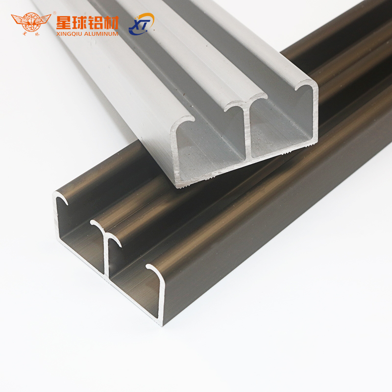 XingQiu Aluminum Alloy Products Aluminium Sliding Door Track for Wood-grain Aluminium Wardrobe