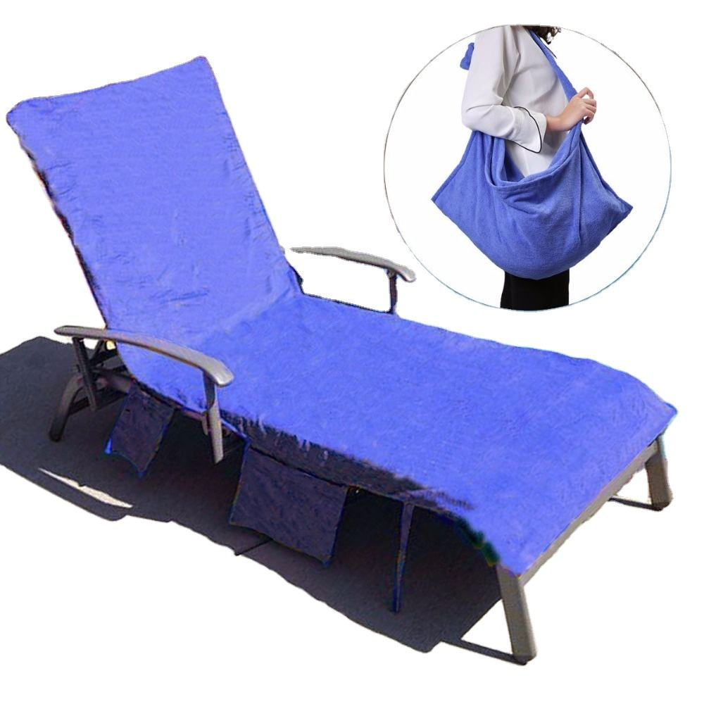 fitted beach towel for lounge chairs folding beach towel bag oem