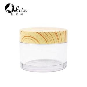 5g 10ml 30ml 50ml food safe recyclable plastic cosmetic pot samples jar with bamboo lid