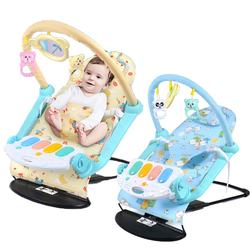 safety portable 2 in1 baby fitness piano swing baby rocking chair with hanging toy