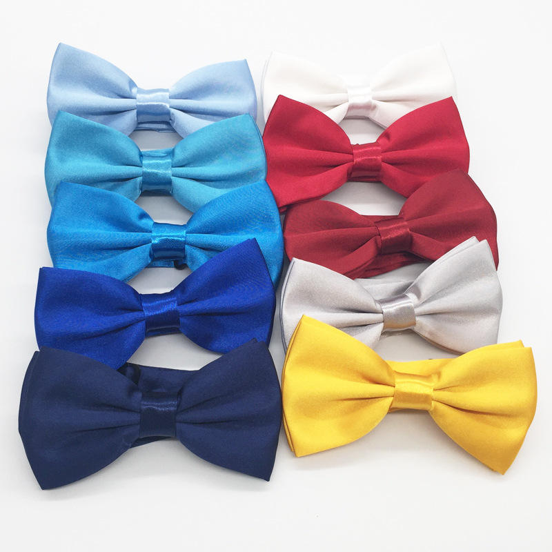 Fashion Bow ties Mens Adjustable Solid Bowties Wedding Party Bow Tie For Men