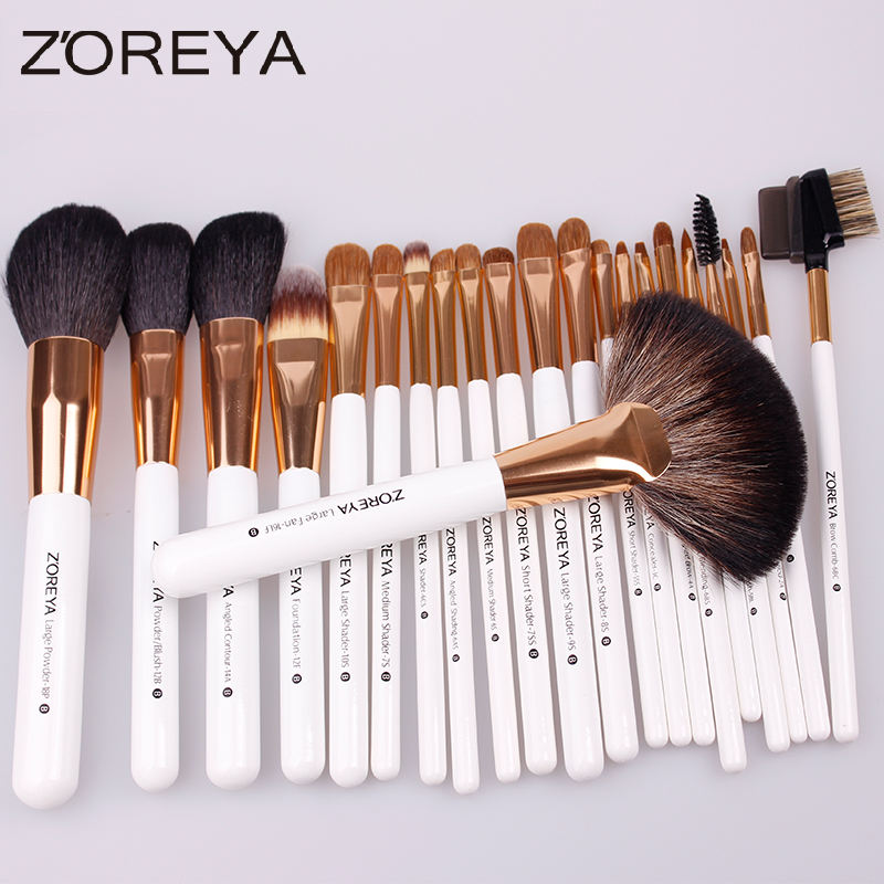 Natural hair brush 22pcs Goat hair Brush Set with Custom Logo brochas de maquillaje profesional