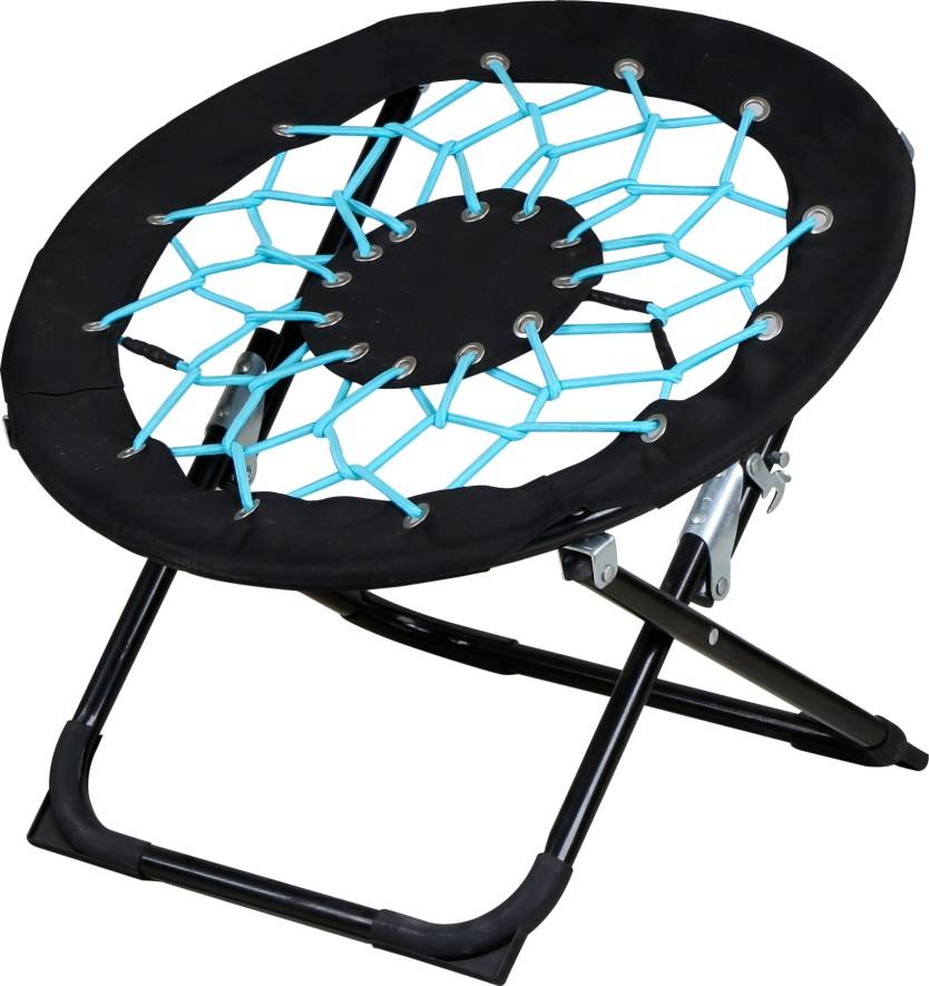 Elastic cord portable foldable beach chair round camping moon bungee chair for kids