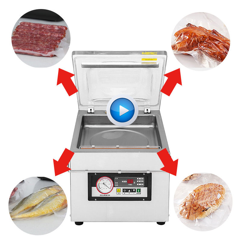 Bespacker automatic DZ-260 vacuum packing machine vacuum sealed plastic bag for meat rice