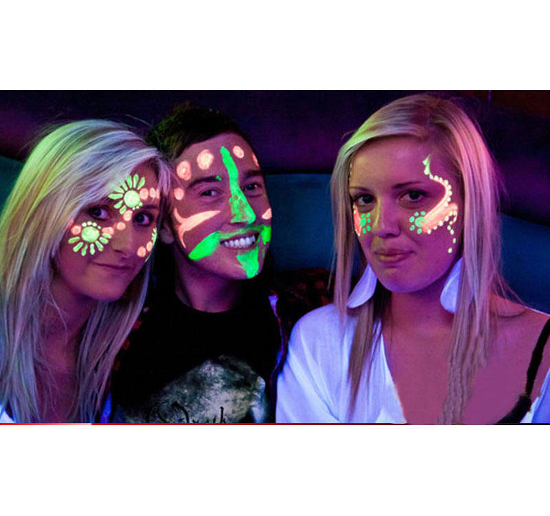 new UV GLOW NEON FACE BODY PAINT PARTY FACE PAINT