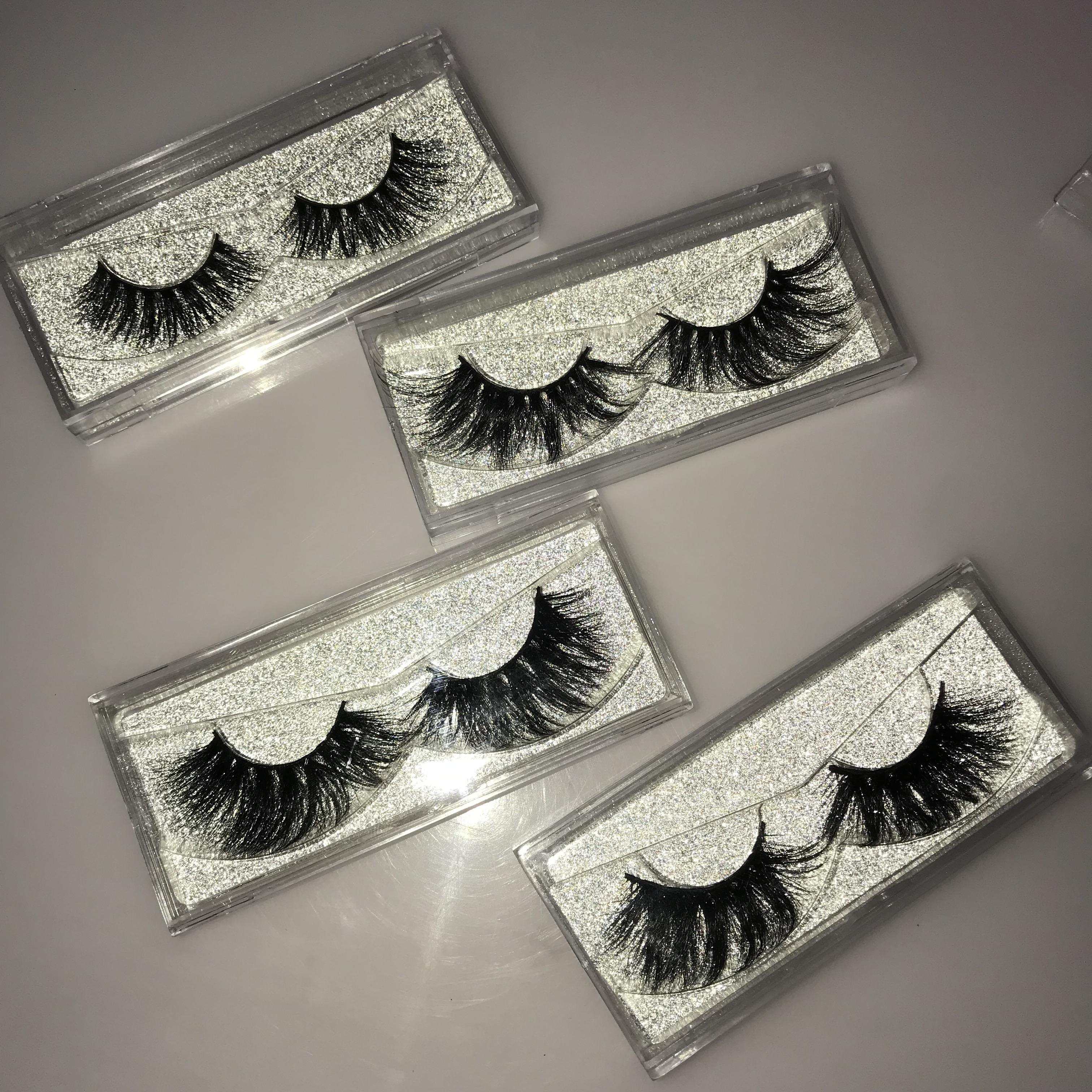 Wholesale 25mm mink eyelash free samples 3d mink eyelashes vendor guangzhou