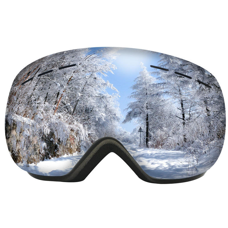 Winter Sports Protection UV400 Custom Logo Air Vent FoamTPU Frame Polarized Snowboarding Ski Goggles