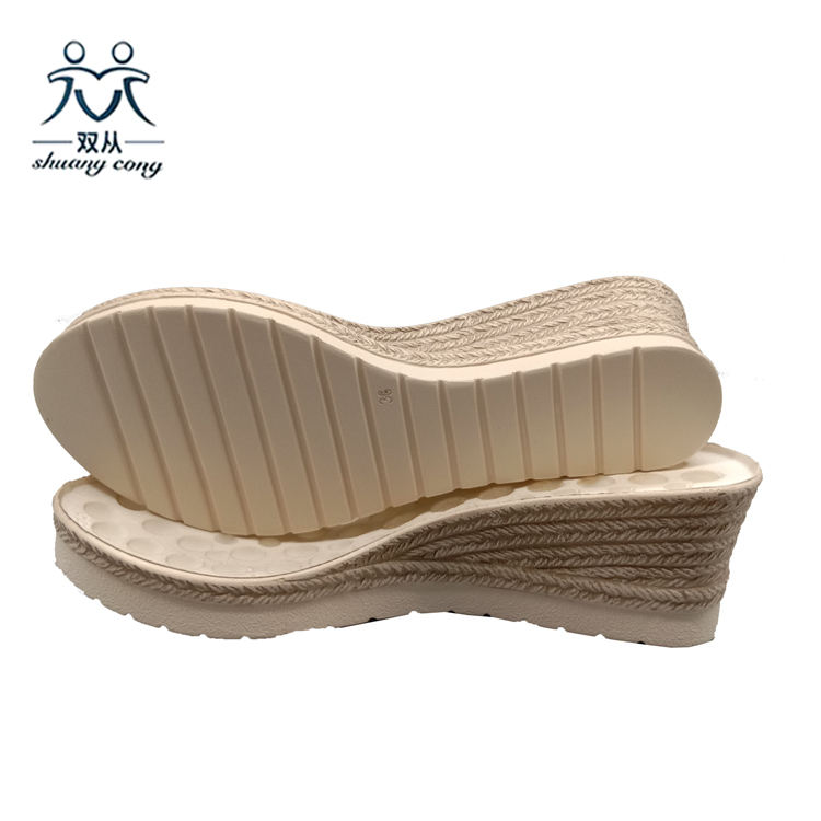 Eco-friendly PU Outsole Jute Sole Sandals Sole Wedge Sole
