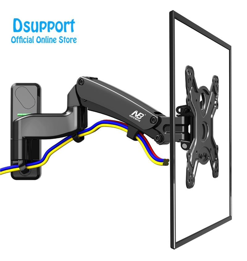 "Air press Gas spring dual arm 40-50"" 8-16kg full motion Monitor wall bracket LCD PLASMA tv mount lcd holder support"