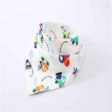 High Quality Skin-friendly Baby Bibs Various Pattern Triangle Cotton Bibs