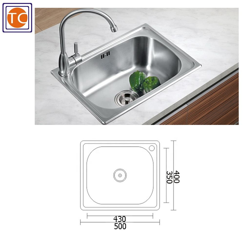 20 By 16 Inch Lay-On Sink Indonesian Design For Kitchen 201 SS Sink