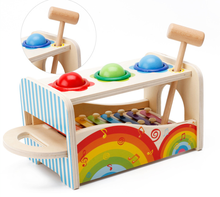 YOBANG 2 in 1 Hammering & Pounding Toys Baby Musical Toys classic popular wooden xylophone for toddlers
