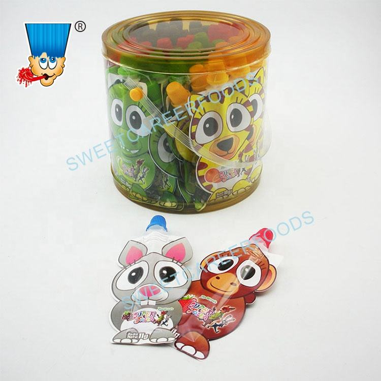 Cartoon Shape Fruit Flavor Jam Liquid Jelly Gel Candy