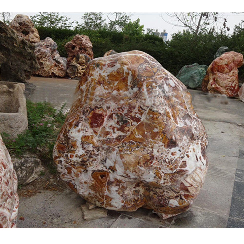 Natural rocks landscaping outdoor landscape marble stone rock with stones for landscaping