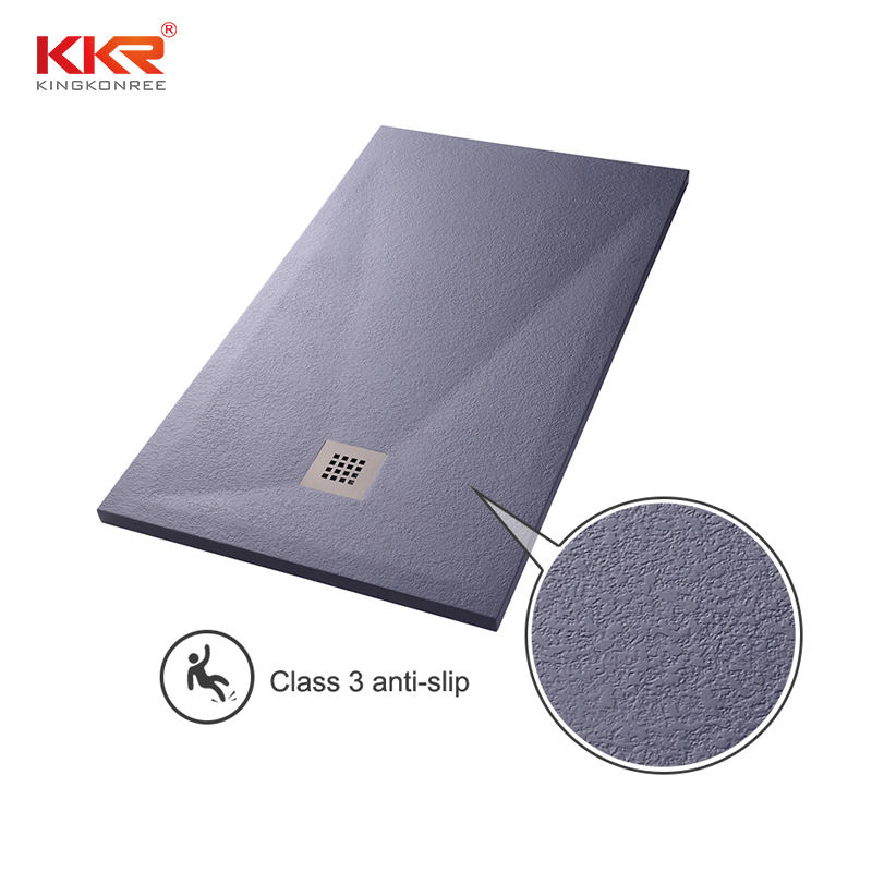 KKR Custom Size Shower pan Solid Surface Shower Tray Stone