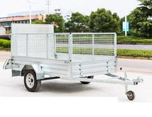 6x4 7x4 8x5 Galvanized  Box  Trailer with Aluminum Ramp