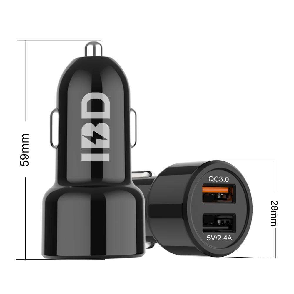 Car Mobile Phone 12v Quick Charge 3.0 Usb Car Charger 5v/2.4a Smartphone